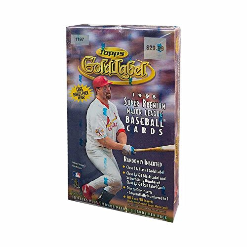 Label Gold 1998 Topps (1998 Topps Gold Label Baseball 11ct Retail Box)