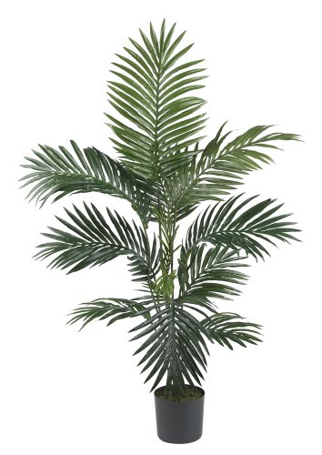 4' Palm Green - Nearly Natural 5295 Kentia Palm Silk Tree, 4-Feet, Green