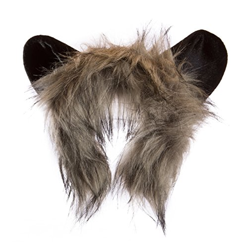 [Life-like Aye-Aye Lemur Ears Headband Accessory for Aye-Aye Lemur Cosplay, Aye-Aye Lemur Costume, Pretend Animal Play or Zoo Animal Party] (Halloween Tree Costume)
