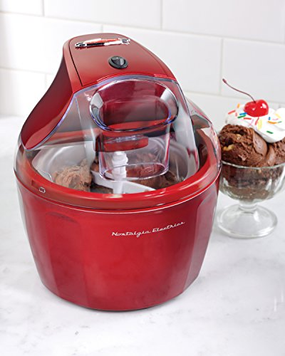 Nostalgia-ICM150RETRORED-15-Quart-Retro-Series-Electric-Ice-Cream-Maker-with-Ingredient-Chute