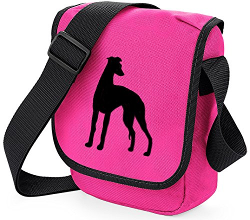 Gift Dog Shoulder Colours Reporter Bag Whippet Lurcher Choice Bag Black Sighthound Silhouette Greyhound Dog Bag of Pink Bag Whippet BqFAwP5x