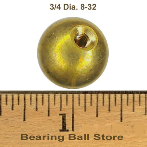 66 3/4'' threaded 8-32 brass balls drilled tapped lamp finials