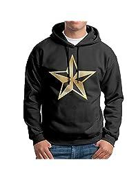 Men's Nautical Star Gold Logo Hooded Sweatshirt