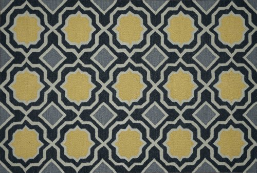 Loloi Rugs WESNHWS01CCGO2376 Weston Collection Hand Tufted Wool Area Rug, 2-Feet to 3-Inch by 7-Feet to 6-Inch, Charcoal/Gold