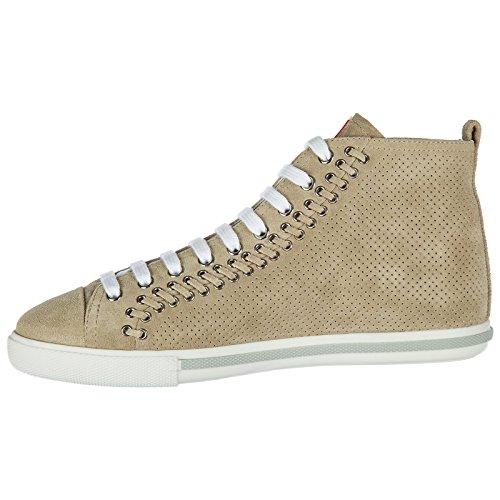 ante Zapatillas deporte de de beige altas zapatillas de Zapatos mujer deporte Prada de tqcw0XX1