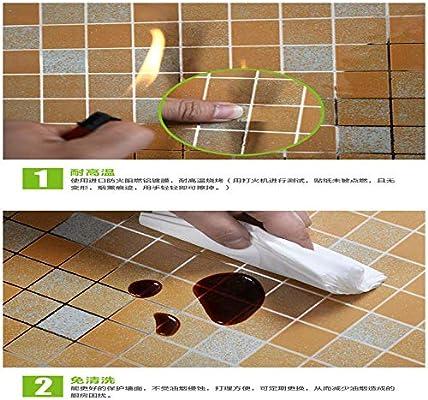 lsaiyy Campana extractora a Prueba de Aceite y Resistente al Agua Pegatina de azulejo Resistente a Altas temperaturas Papel Pintado Autoadhesivo Adhesivo de Pared- 45 cm x 2: Amazon.es: Hogar