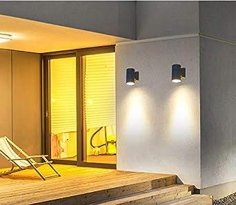 de pared al aire libre impermeable IP65 noche luz Loft escaleras Lamparas luces del porche Aplique Led Vanity luz Graden terraza Warm light 3W: Amazon.es: Iluminación