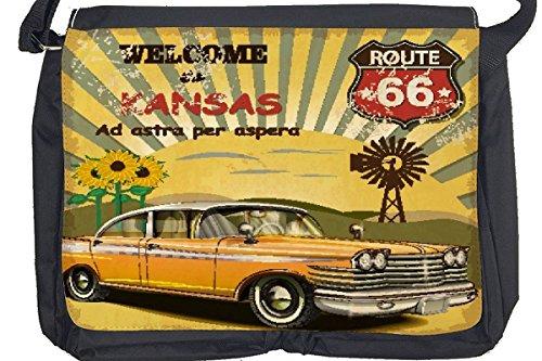 Borsa Tracolla Vacanza Agenzia Viaggi Benvenuto Kansas Stampato