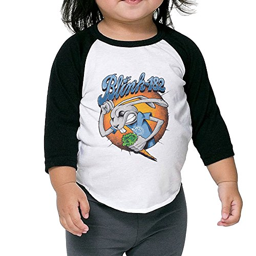 (Blink 182 Comic Casual 3/4 Sleeve Cotton Baseball Shirs For Kids Unisex)