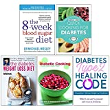 img - for 8 Week Blood Sugar Diet, Quick Cooking For Diabetes, The Diabetes Weight Loss Diet, Diabetic Cooking For One And Two, Diabetes Type 2 Healing Code 5 Books Collection Set book / textbook / text book