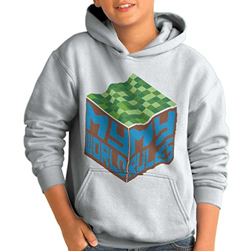(My World My Rules Building Game Nerd Gamer Youth Hoodie)