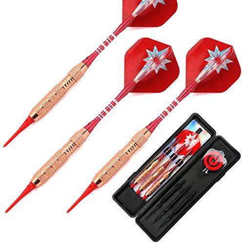 Tournament Style Darts - L.E.D STEP Soft Darts 18 g Darts Tournament Soft Tip Dart Set, Aluminum Darts Shafts with Flights