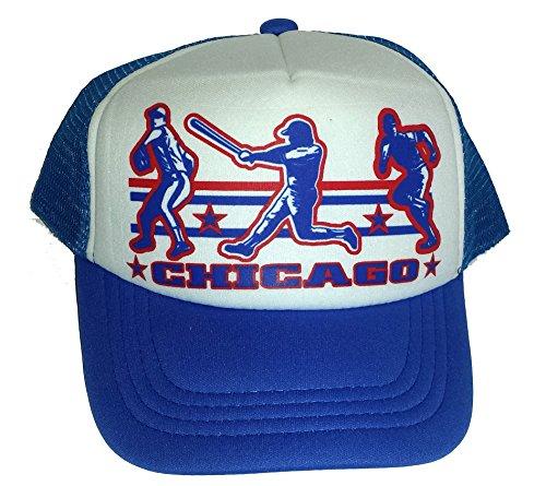 Toddler Kid's Chicago Baseball Snapback Mesh Trucker Hat Cap