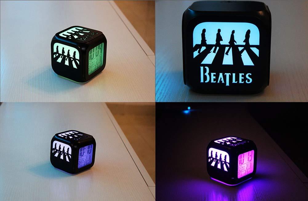 Gradient Color/é Nei/%Yi NEIYI Beatles Abbey Road Creative 3D R/éveil St/ér/éo LED Night Light /électronique Horloge de Chambre /à Coucher Chevet