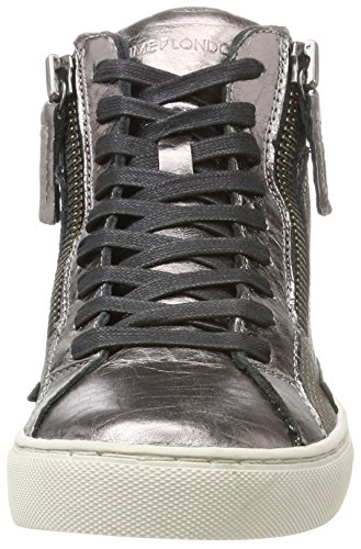 Crime London Women's 25334a17b Hi-Top Trainers Silver (Rose) mE86nI0