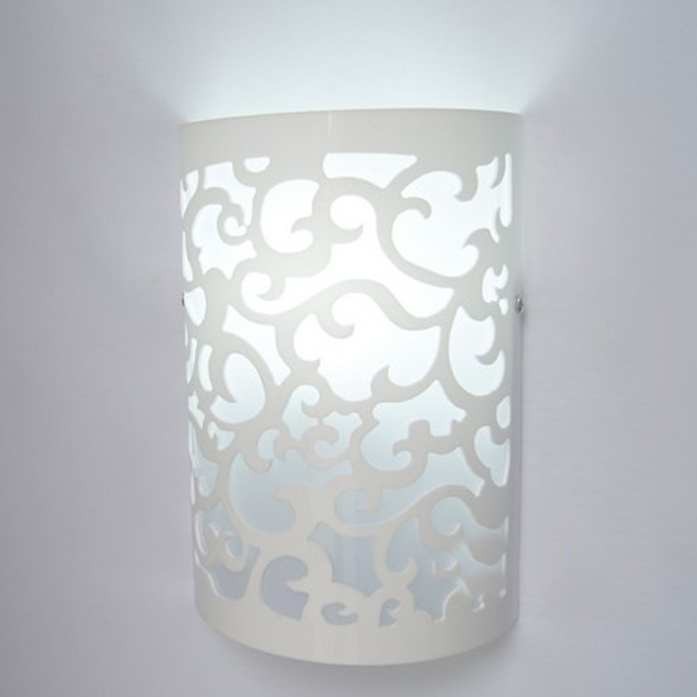 Fuloon Modern Indoor White Wall Light Sconce Lighting Lamp Hallway ...
