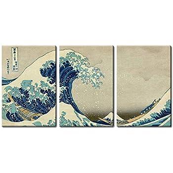 Hokusai Mt Fuji Japanese Art Print The Great Wave 20x30