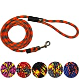 Extremely Durable Dog Rope Leash, Premium Quality Mountain Climbing Dog Rope Lead, Strong, Sturdy and Comfortable Leash, Supports the Strongest Pulling Large and Medium Sized Dogs, 6-feet, Orange
