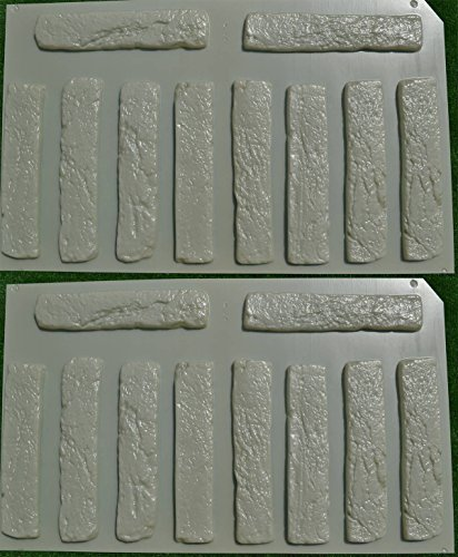 Fireproof Four Inch Masonry Brick Panel : Pcs plastic molds antique brick veneer for concrete