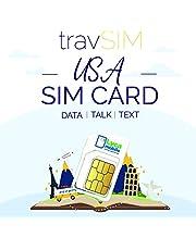 travSIM VS SIM Kaart (Lycamobile SIM Kaart) Geldig voor 30 Dagen - 40GB 3G 4G LTE Mobiele Data - Verenigde Staten Lycamobile US SIM Kaart (Onbeperkt USA & Internationaal Bellen en SMS'en)