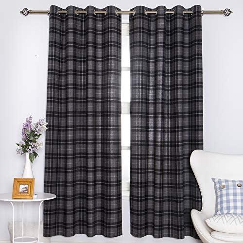 DOLLMEXX Plaid Curtains