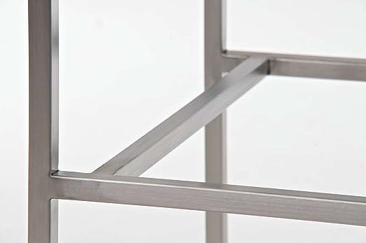 Clp sgabello alto bar torino in acciaio inossidabile e seduta in