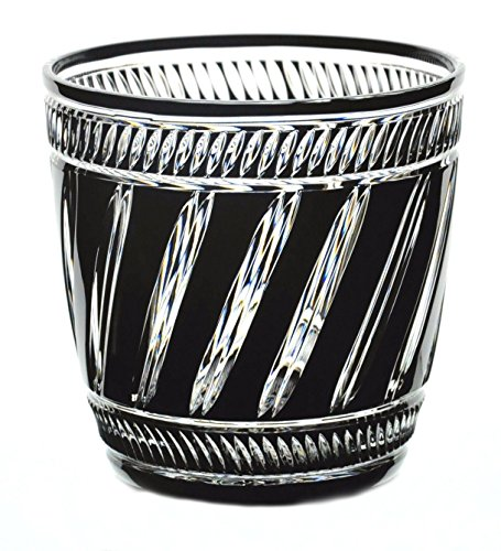 Faberge Black Cased Cut to Clear Crystal Marie Louise Ice Bucket