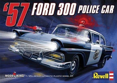 #4081 Revell Model Kit '57 Ford Custom Police Car1/25 Scale Plastic model Kit,Needs Assembly