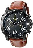 nixon ranger - Nixon Men's A940712-00 Ranger Chrono Leather Analog Display Quartz Gold Watch