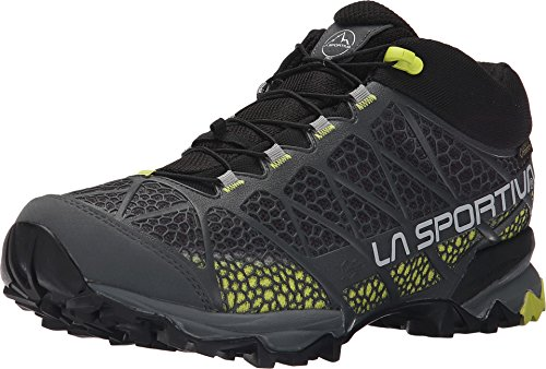 La Sportiva Men's Synthesis Mid GTX Hiking Shoe, Grey/Green, 38 M EU