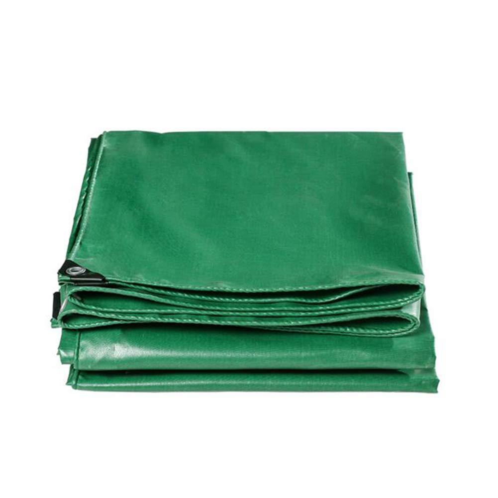 DALL ターポリン タープ 防水 ヘビーデューティー グリーンカバー 520グラム/平方メートル ターポリン (色 : Green, サイズ さいず : 4*4m) 4*4m Green B07KMZTMCM