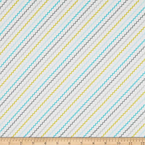 Michael Miller Fabrics Tiny Tots Rick Rack Cloud Fabric by the Yard