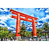SANSHUI Jigsaw Puzzle Torii Gate of Japanese Shrine Difficult Scenery Series Decoration Birthday Gifts 500/1000/1500/2000/3000/4000/5000/6000 Pieces 0804