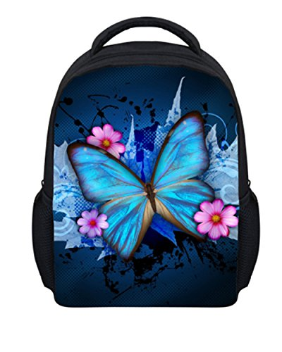 Beauty Collector Pretty Floral Butterfly Printed Backpacks for Kids Toddler Fashion Preschool Book Bag
