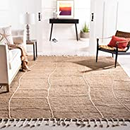 Safavieh NF105B-8 Fiber Collection NF105B Natural Premium Jute (8' x 10')