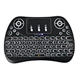 Mini Backlit Wireless Kyeboard Mouse Combo, Rechargeable Li-ion Battery &  Multi-Media Handheld Touchpad Remote for Android TV Box/PC/MAC/Smart