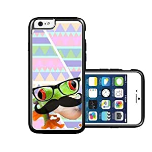 RCGrafix Brand Hipster Tree Frog Geek Glass iPhone 6 Case - Fits NEW Apple iPhone 6