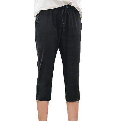 YiLianDa Einfarbige Damen Bermuda-Shorts Elegante Kurze Hose im Chino-Style   Amazon.de  Bekleidung 9eae869d92