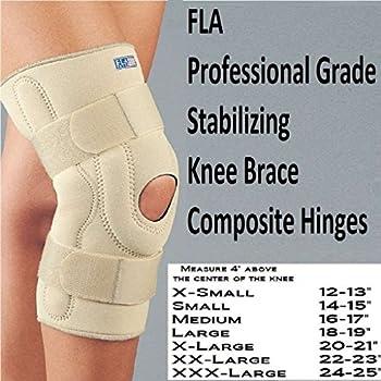 Amazon Com Fla Hinged Stabilizing Neoprene Knee Brace X