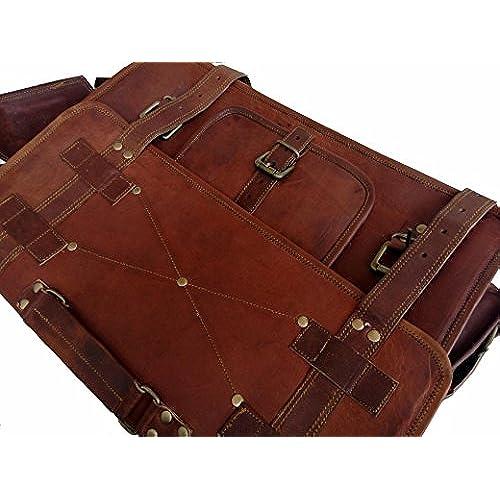 VINTAGE COUTURE 16 Inch leather messenger bags for men women mens briefcase  laptop bag best computer d7f47ed5a6934