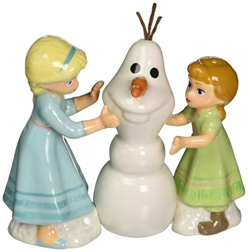 Westland Giftware Disney Frozen Do You Want to Build a Snowman? Magnetic Ceramic Salt & Pepper Shaker Set, Multicolor