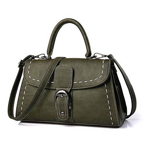 color Portable Style Negro Ocasional Tote Simple Bolso Xuanbao Bag Señora Shoulderhandbag Verde Square Small De CqtXZ7wxF