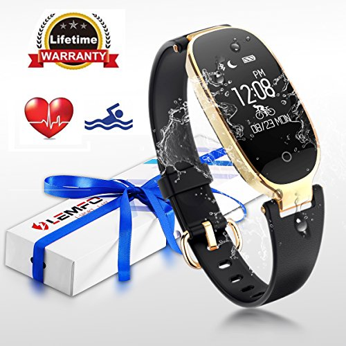 Fitness Tracker , LEMFO Heart Rate Monitor Women Swimming Waterproof Ladies Activity Tracker Smartband Sleep Monitor Pedometer Smart Bracelet Wristband - Monitors Heart Waterproof Rate