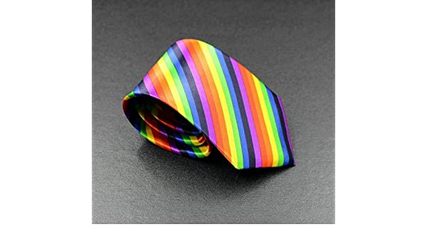 HSDDA Corbata de Rayas diagonales de arcoíris, 8 cm, diseño de ...