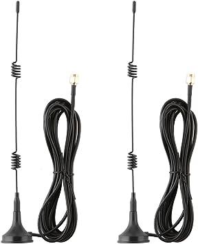 SANNCE 2 x 2,4 GHz 7 dBi Antena WiFi omnidireccional de ...