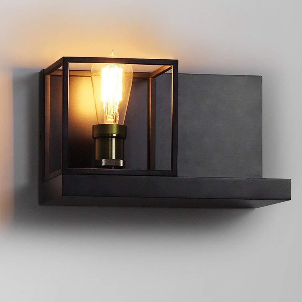 vendita online PoJu Retro American Creative Aisle Stair Lampada da comodino Industriale Industriale Industriale Wind Cafe Iron Frame Wall Lamp32  19cm E27  Negozio 2018
