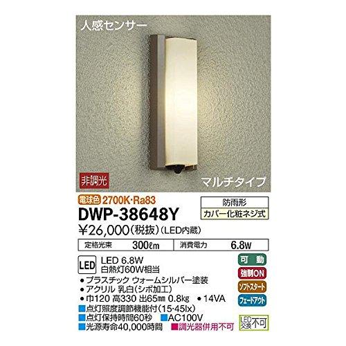 大光電機:人感センサー付アウトドアライト DWP-38648Y B01NALNQC4