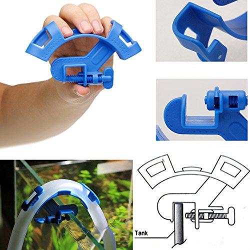 Plastic Aquarium Fish Tank Hose Clip Holder for Filter Hose Hanger Mount Filtration Water Pipe Tube - ()