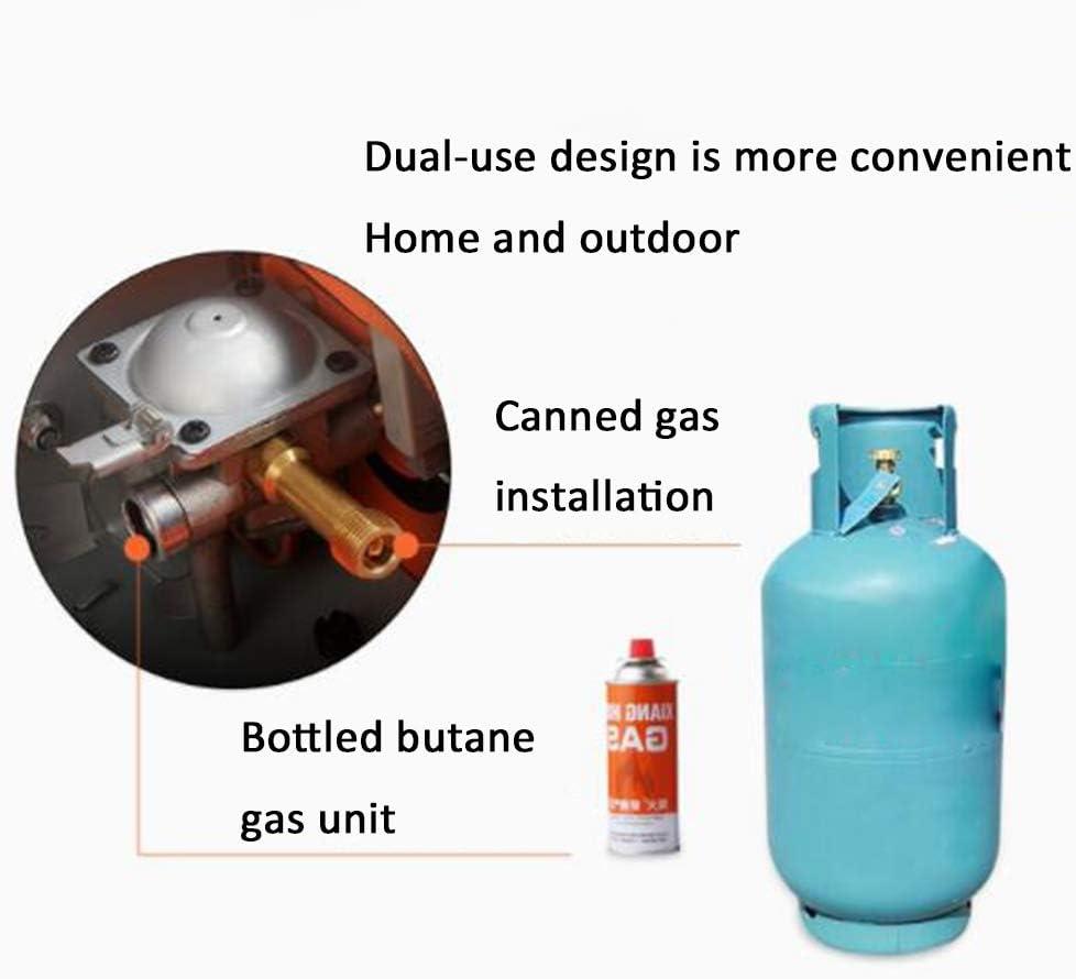 Griglia multiuso portatile all'aperto, stufa a gas antivento, forno a cassetta di gas liquefatto, casa senza fumo storage bag Black