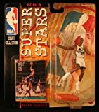 GRANT HILL / DETROIT PISTONS * 99/00 Season * NBA SUPER STARS Super Detailed Figure, Display Base & Exclusive Upper Deck Collector Trading Card